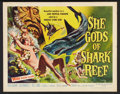 "Movie Posters:Adventure, She Gods of Shark Reef (American International, 1958). Half Sheet(22"" X 28""). Adventure.. ..."