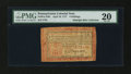 Colonial Notes:Pennsylvania, Pennsylvania April 10, 1777 8s Red and Black PMG Very Fine 20....