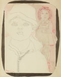 Fine Art - Work on Paper:Drawing, RICHARD LINDNER (American, 1901-1978). Children, circa 1950.Ink on paper. 13-1/2 x 10-1/2 inches (34.3 x 26.7 cm). Sign...