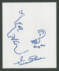 "Movie Posters:Horror, Vincent Price (Unknown). Autographed Sketch Drawing (7"" X 8.5"").Horror.. ..."