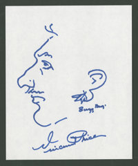"""Vincent Price (Unknown). Autographed Sketch Drawing (7"""" X 8.5""""). Horror"""