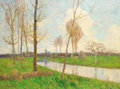 Fine Art - Painting, European:Modern  (1900 1949)  , ERNST HARDT (German, 1869-1917). A Country Stream. Oil oncanvas. 42-1/2 x 56 inches (108.0 x 142.2 cm). Signed lower le...