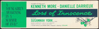 "Loss of Innocence (Columbia, 1961). Banner (24"" X 81.5""). Romance"