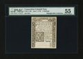 Colonial Notes:Connecticut, Connecticut June 7, 1776 5s Slash Cancel PMG About Uncirculated55....