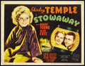 "Movie Posters:Musical, Stowaway (20th Century Fox, 1936). Title Lobby Card (11"" X 14"").Musical.. ..."