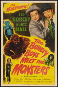 """Movie Posters:Comedy, The Bowery Boys Meet the Monsters (Allied Artists, 1954). One Sheet(27"""" X 41""""). Comedy.. ..."""