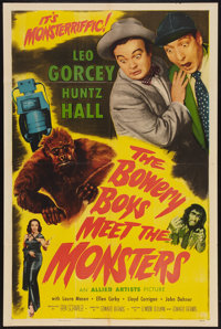 "The Bowery Boys Meet the Monsters (Allied Artists, 1954). One Sheet (27"" X 41""). Comedy"
