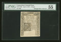 Colonial Notes:Connecticut, Connecticut June 7, 1776 £1 Slash Cancel PMG About Uncirculated 55....