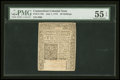 Colonial Notes:Connecticut, Connecticut July 1, 1775 40s Uncanceled PMG About Uncirculated 55EPQ....