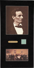 Political:Presidential Relics, Abraham Lincoln: Lock of Lincoln's Hair....