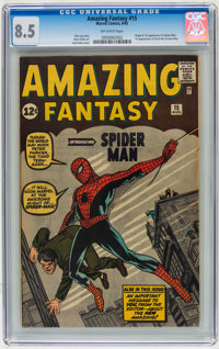 Amazing Fantasy #15 Biljo White Copy (Marvel, 1962) CGC VF+ 8.5 Off-white pages
