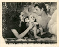 "Movie Posters:Adventure, Johnny Weissmuller and Maureen O'Sullivan in ""Tarzan Finds a Son""(MGM, 1939). Still (8"" X 10"").. ..."