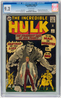 Silver Age (1956-1969):Superhero, The Incredible Hulk #1 (Marvel, 1962) CGC NM- 9.2 Off-whitepages....