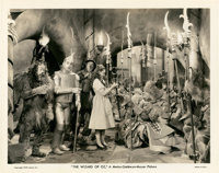 "Judy Garland and The Cast from ""The Wizard of Oz"" (MGM, 1939). Still (8"" X 10"")"