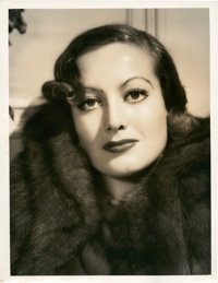 "Joan Crawford by Clarence Sinclair Bull (MGM, 1930s). Portrait Still (10"" X 13"")"