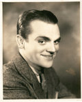 """Movie Posters:Miscellaneous, James Cagney by Elmer Fryer and Ferenc (Warner Brothers, 1930s).Portrait Stills (2) (8"""" X 10"""").. ... (Total: 2 Items)"""