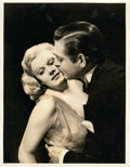 """Movie Posters:Comedy, Jean Harlow and Clark Gable in """"Saratoga"""" by Durward Graybill (MGM,1937). Portrait (10"""" X 13"""").. ..."""