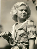 """Movie Posters:Miscellaneous, Jean Harlow by Clarence Sinclair Bull (MGM, 1932). Portrait Still (9"""" X 12"""").. ..."""