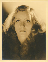 "Greta Garbo by Clarence Sinclair Bull (MGM, Early 1930s). Portrait Still (10"" X 13"")"