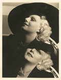 "Movie Posters:Miscellaneous, Jean Harlow by George Hurrell (MGM, 1930s). Photographer SignedPortrait (10"" X 13"").. ..."