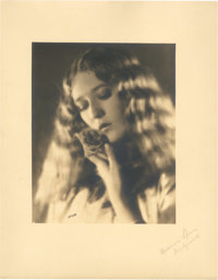 "Mary Pickford by Melbourne Spurr (United Artists, 1919). Signed by Photographer- Portrait Still (11"" X 14"")..."