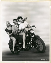 "Marlon Brando, Peggy Marlon, and Yvonne Doughty in ""The Wild One"" by Edward Cronenweth (Columbia, 1953). Still..."