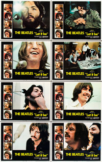 "Let It Be (United Artists, 1970). Lobby Card Set of 8 (11"" X 14"") and Fan Club Promo Kit. ... (Total: 9 Items)"
