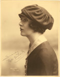 """Movie Posters:Miscellaneous, Mabel Normand by Herman Mishkin (1921). Autographed Portrait Still(11"""" X 14"""").. ..."""
