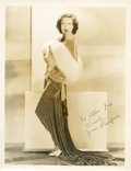 "Movie Posters:Drama, Joan Crawford by George Hurrell (MGM, 1930s). Autographed Portrait(10"" X 13"").. ..."