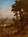 Paintings, GEORGE INNESS (American, 1825-1894). Valley Near Perugia, 1871. Oil on canvas. 24-1/4 x 19 inches (61.6 x 48.3 cm). Sign...