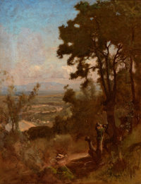 GEORGE INNESS (American, 1825-1894) Valley Near Perugia, 1871 Oil on canvas 24-1/4 x 19 inches (6