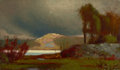 Fine Art - Painting, American:Antique  (Pre 1900), JOHN FRANCIS MURPHY (American, 1853-1921). Autumn Landscape,1876. Oil paper on panel. 6 x 10 inches (15.2 x 25.4 cm). S...