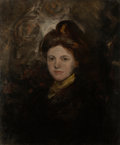 Fine Art - Painting, American:Modern  (1900 1949)  , JOHN SLOAN (American, 1871-1951). Girl with Auburn Hair,(Miss Kitty Yoder), circa 1900. Oil on canvas. 23-1/2 x19-...