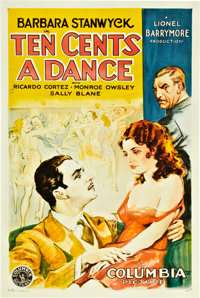 "Ten Cents a Dance (Columbia, 1931). One Sheet (27"" X 41"") Style B"