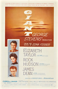 "Giant (Warner Brothers, 1956). One Sheet (27"" X 41""). Drama"
