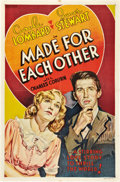 """Movie Posters:Comedy, Made for Each Other (United Artists, 1939). Other Company One Sheet(27"""" X 41"""").. ..."""