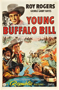 "Young Buffalo Bill (Republic, 1940). One Sheet (27"" X 41""). Western"