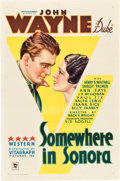 "Movie Posters:Western, Somewhere in Sonora (Warner Brothers, 1933). One Sheet (27"" X41"").. ..."