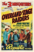 """Movie Posters:Western, Overland Stage Raiders (Republic, 1938). One Sheet (27"""" X 41"""")....."""