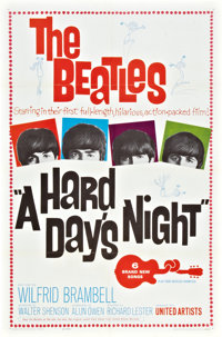 "A Hard Day's Night (United Artists, 1964). One Sheet (27"" X 41"") and Movie Ticket. ... (Total: 2 Items)"