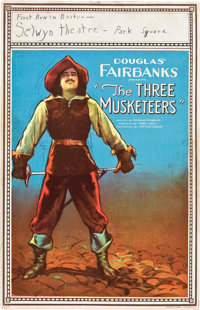 """The Three Musketeers (United Artists, 1921). Window Card (14"""" X 22"""")"""