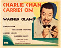"Movie Posters:Mystery, Charlie Chan Carries On (Fox, 1931). Title Lobby Card (11"" X 14"")....."