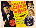 "Movie Posters:Mystery, Charlie Chan in Rio (20th Century Fox, 1941). Title Lobby Card (11""X 14"").. ..."