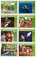 "Movie Posters:Horror, Creature From the Black Lagoon (Universal International, 1954).Lobby Card Set of 8 (11"" X 14"").. ... (Total: 8 Items)"
