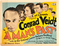 "Movie Posters:Drama, A Man's Past (Universal, 1927). Title Lobby Card (11"" X 14"").. ..."
