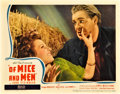 "Movie Posters:Drama, Of Mice and Men (United Artists, 1939). Lobby Card (11"" X 14"")....."