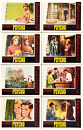 """Movie Posters:Hitchcock, Psycho (Paramount, 1960). Lobby Card Set of 8 (11"""" X 14"""").. ..."""