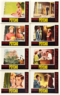 "Psycho (Paramount, 1960). Lobby Card Set of 8 (11"" X 14"")"
