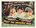 "Movie Posters:Comedy, Abbott and Costello Meet the Invisible Man (UniversalInternational, 1951). Title Lobby Card (11"" X 14"").. ..."