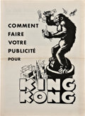 """Movie Posters:Horror, King Kong (RKO, 1933). French Pressbook (14.75"""" X 10.75"""").. ..."""